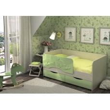 Кровать Алиса 1,4 (Салат маталлик)