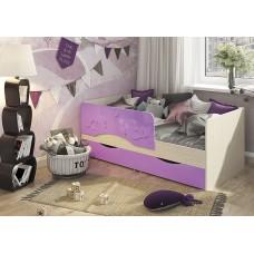 Кровать Алиса 1,4 (Сирень металлик)