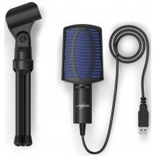 Микрофон проводной Hama Stream 100 2м черный