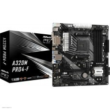Материнская плата Asrock A320M PRO4-F Soc-AM4 AMD A320 4xDDR4 mATX AC`97 8ch(7.1) GbLAN RAID+VGA+DVI+HDMI
