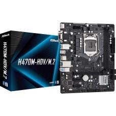 Материнская плата Asrock H470M-HDV/M.2 Soc-1200 Intel H470 2xDDR4 mATX AC`97 8ch(7.1) GbLAN+VGA+DVI+HDMI