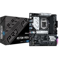 Материнская плата Asrock H570M PRO4 Soc-1200 Intel H570 4xDDR4 mATX AC`97 8ch(7.1) GbLAN RAID+HDMI+DP