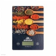 Весы кухонные Добрыня DO-3010D (20*14,5см, 5кг) специи