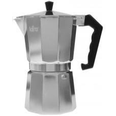 Гейзерная кофеварка Lara LR06-73 серебристый