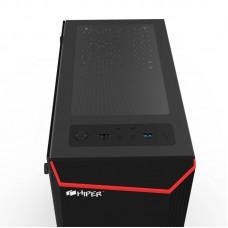Корпус HIPER HG-C101 THETIS (ATX, SPCC0.5, USB3.0+USB2.0, VGA Max 310mm, Buttom PSU, Black)
