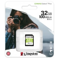 Флеш карта SDHC 32Gb Class10 Kingston SDS2/32GB Canvas Select Plus w/o adapter