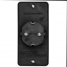 Адаптер-переходник Hama H-108845 (2 розетки) черный