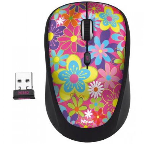 Манипулятор Trust Yvi Wireless Mouse Flower power(20250), 1600dpi, USB