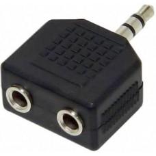 Переходник разветвитель аудио VCOM 3.5 Jack (M) - 2x3.5 Jack (F), стерео VAD7847