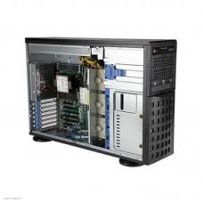 Серверная платформа NEW Supermicro SuperServer 4U 740P-TR noCPU(2)3rd GenScalable/TDP 270W/no DIMM(16)/ SATARAID HDD(8)LFF/6xFH,M2/2x1GbE/2x1200W