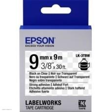 Лента Epson Tape LK-3TBW Strng adh Blk/Clear 9/9 C53S653006