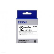 Лента Epson LK-4WBN9 Std Blk/Wht 12/9 C53S654021