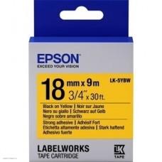 Лента Epson LK5YBW Strng adh Blk/Yell 18/9 C53S655010