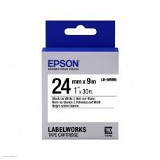 Лента Epson LK-6WBN Std Blk/Wht 24/9 C53S656006