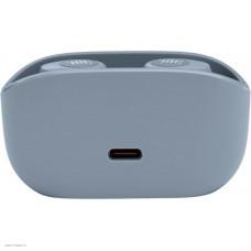 Наушники внутриканальные с микрофоном JBL Wave 100 TWS BT 5.0, до 5 часов, 2x5.1г, цвет серо-голубой