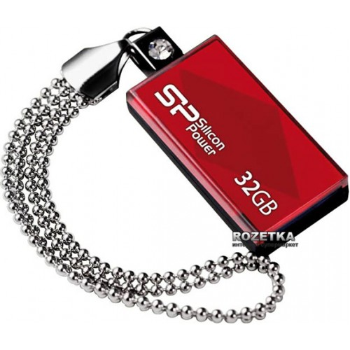 Накопитель USB 2.0 Flash Drive 32Gb Silicon Power Touch 810 красный (SP032GBUF2810V1R)