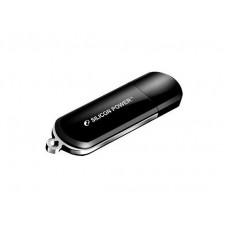 Накопитель USB 2.0 Flash Drive 16Gb Silicon Power LuxMini 322 Black (SP016GBUF2322V1K)