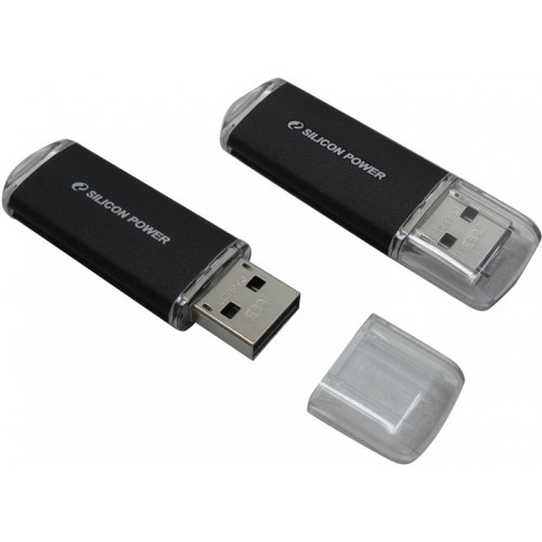 Накопитель USB 2.0 Flash Drive 16Gb Silicon Power Ultima II - I Series Black (SP016GBUF2M01V1K)
