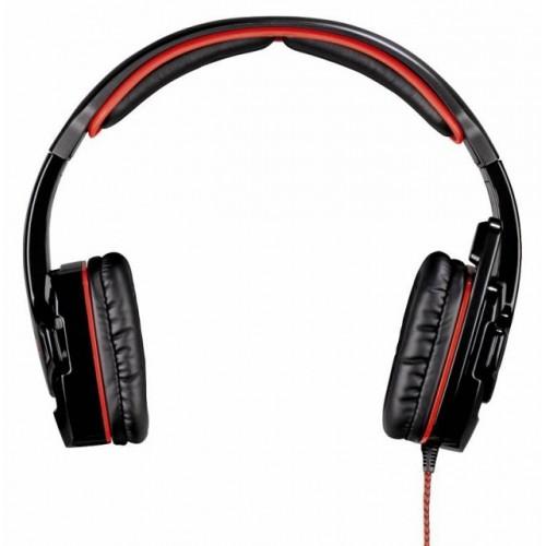 Наушники с микрофоном HAMA Fire Starter черный/красный
