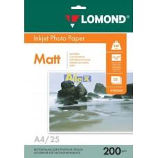 Бумага Lomond для струйной печати А4, 200 г/м2, 25 листов, матовая двусторонняя (0102052)