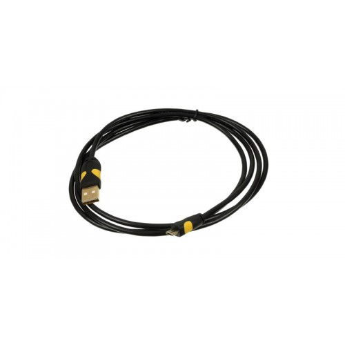 Кабель USB 2.0 Am-microBm GOLD 2A Smooth connector 1m, black