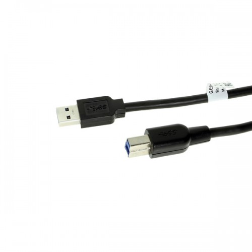 Кабель USB 2.0 Am-microBm GOLD 2A Square connector 1m, black