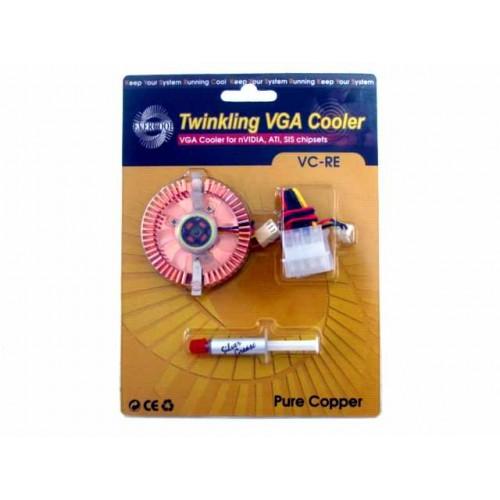 Вентилятор для видеокарты 45x45x10мм Gembird (VC-RE) 2led