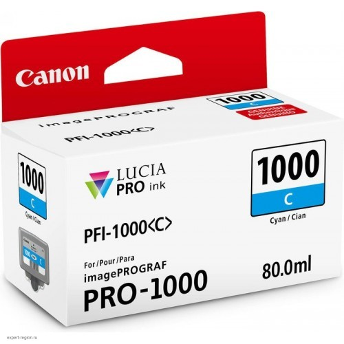 Картридж-чернильница PFI-1000C Canon  imagePROGRAF iPF1000 cyan (0547C001)