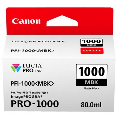 Картридж-чернильница PFI-1000MBK Canon  imagePROGRAF iPF1000 Matte black (0545C001)