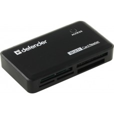 Устройство чтения/записи All in 1 USB2.0 CBR CR 455 Black