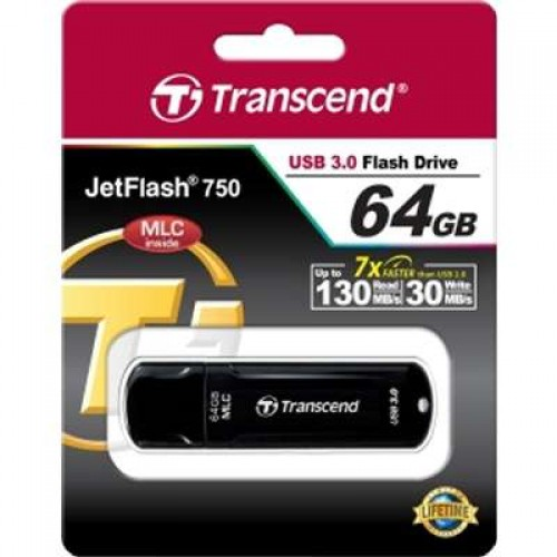 Накопитель USB 3.0 Flash Drive 64Gb Transcend 750K