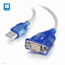 Кабель переходник USB 2.0 - COM Orient 9M(RS232)/AM, 1.2м, WCH CH340, поддержка Win 8.x/10 (USS-112)