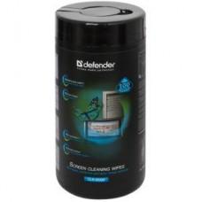 Чистящие салфетки Defender влажные для экранов/оптики CLN30320 в тубе(100шт)