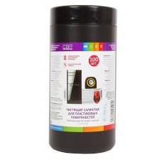Чистящие салфетки CBR влажные для пластиковых поверхностей CS0030-100 100 шт., туба