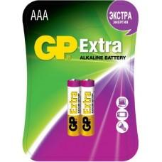 Батарейки щелочные GP Extra Alkaline 24AX LR03 AAA (GP 24AX-2CR2 Extra)