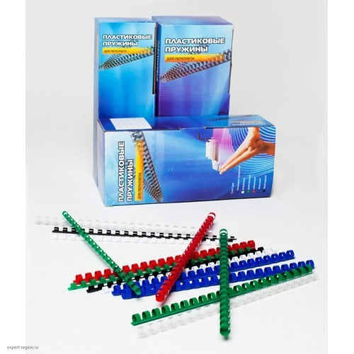 Пружины для переплета пластик Office Kit BP2041 A4, d=14 мм (91-110 листов) белая