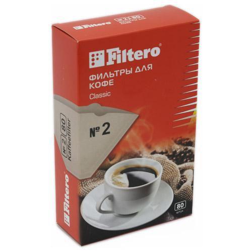 Фильтры для кофе Filtero №2/80 коричневый 80шт.
