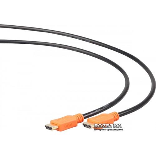 Кабель HDMI 19M-19M  4.5м ver.1.4 Gembird Light чёрный золотые контакты,экран,пакет (CC-HDMI4L-15)
