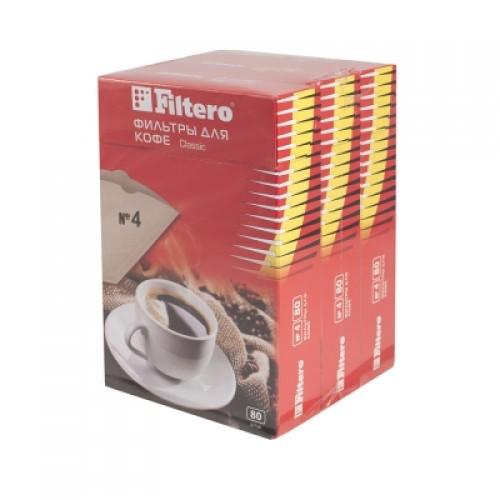 Фильтры для кофе Filtero №4/240 коричневый 240шт.
