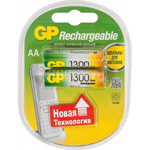 Аккумулятор GP Rechargeable AA (1300 mAh) 130AAHC NiMH BL-2