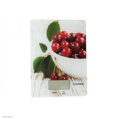 Весы кухонные Leran EK9332 01 белый/рисунок