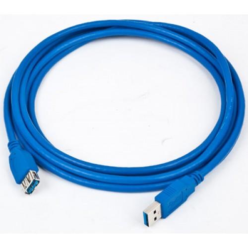 Кабель USB 3.0 Am-Af удлинитель  1.8м Gembird/Cablexpert Pro экран., синий (CCP-USB3-AMAF-6)