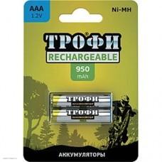 Аккумулятор ТРОФИ AAA (950mAh) NiMH HR03-2BL