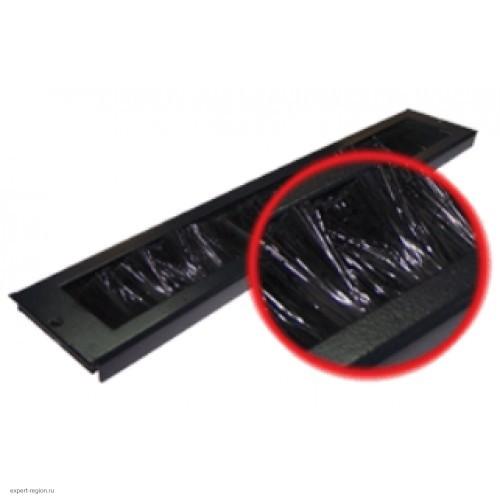 Щеточный кабельный ввод для напольных шкафов Business, черный (TWT-CBB-BP)