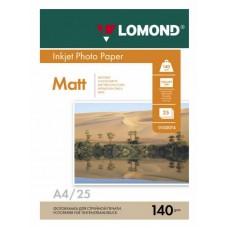 Бумага Lomond для струйной печати A4 140г/м2, 25л. листов, матовая (0102073)