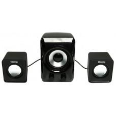 Акустическая система 2.1 Dialog AC-202UP, 2x3W+5W, черный/белый