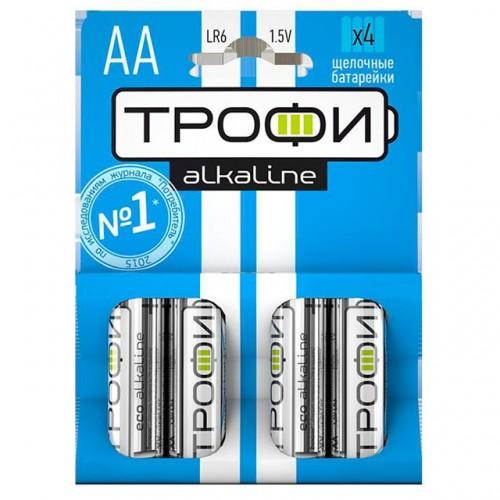 Батарейки алкалиновые Трофи Alkaline ECO 4шт (AA)
