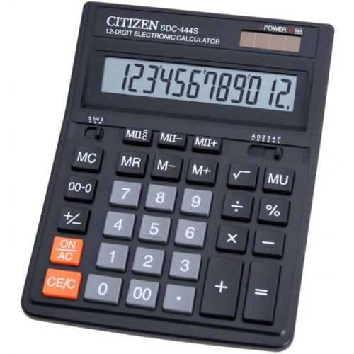 Калькулятор Citizen SDC-444 бухгалтерский 12 разрядов (SDC-444S)