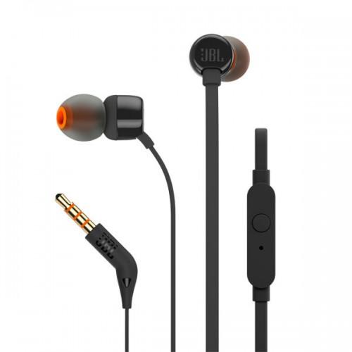 Наушники с микрофоном JBL JBLT110BLK (10Hz-20kHz, 16 Om, доп. 1.2 м) Black/orange