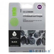 Картридж LC980BK Brother DCP-145C/165C MFC-250C/290C (16ml), Black (Cactus)